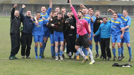 Unless there's a massive goalscoring spree tomorrow, Fakenham Town are going up! Picture: Tony Miles