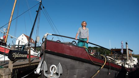 The family's boat is actually a Dutch barge and comfortably fits four people on it Picture: SARAH LUCY BROWN