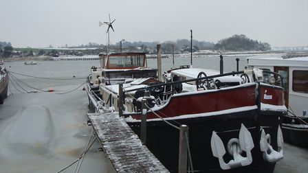Contrary to popular belief, houseboats can be kept warm and cosy during the winter Picture: Bev Rogers