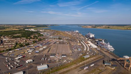 A man has died following a collision with a lorry at Harwich International Port Picture: HUTCHISON PORTS UK