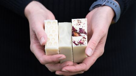Beautiful soap from the Framlingham Soap Co, founded by Emma Easter. Picture: SARAH LUCY BROWN