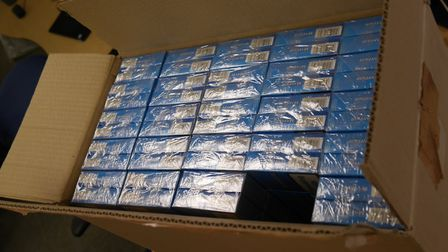 Trading standards and HMRC teams seized 27,000 illegal cigarettes in raids at the Pier Avenue Store in Clacton. Picture...