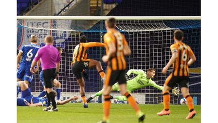Ipswich Town lost 3-0 at home to League One leaders Hull City on Tuesday night. Photo: Steve Waller
