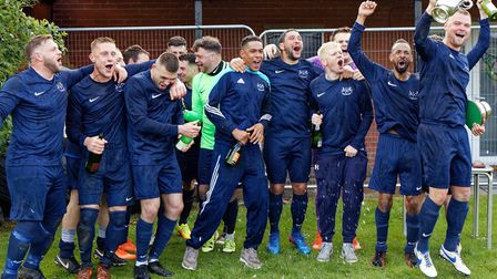 Happier times: Crane Sports with the SIL senior championship trophy, which they won in 2018-19. The club have announced...