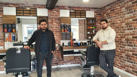 Mursel Arapoglu (left) and Omer Kaplan are excited to open the Istanbul Barbers in Hadleigh next week. Picture: OMER KAPLAN