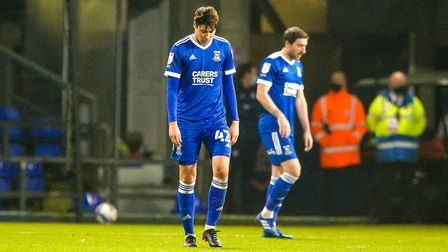 Brett McGavin and Stephen Ward pictured after Charlton Athletic had scored their second.Picture: Steve Waller...