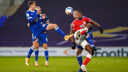Liam Gibbs in action during the game against Charlton Athletic.Picture: Steve Wallerwww.stephenwaller.com