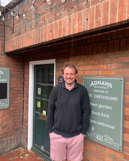 Dan Lightfoot is the landlord at the Greyhound pub in Ipswich, a tenant of Adnams brewery. Picture: DAN LIGHTFOOT