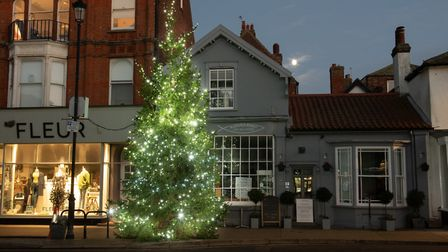 The Christmas lights have been put up in Aldeburgh. Picture: SARAH LUCY BROWN