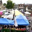 The traditional Saturday market on the Cornhill and Buttermarket in Bury St Edmunds Picture: ARCHANT