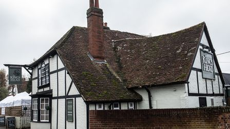The Kings Head, Gosfield, is offering cheap but 'substantial' meals to appeal to drinkers in Tier 2. Picture: SARAH LUCY...