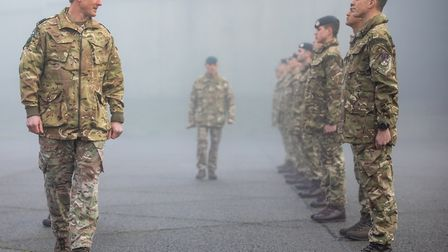 Wing Commander Turner (left) reviews the parade during the graduation Picture: CPL DAVE BLACKBURN/MOD