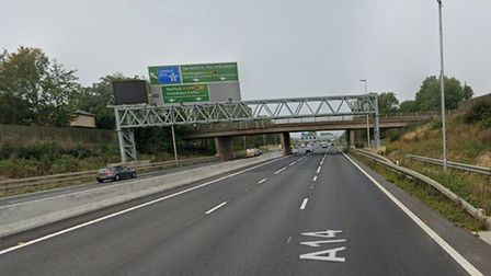 The collision happened on the A14 at Girton Picture: GOOGLE MAPS
