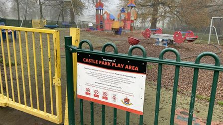 Castle Park play area in Thetford.