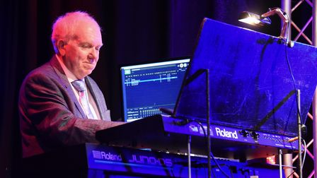 Musical director, Nigel Hogg, taking part as artists get ready for the Strictly Variety Show at Crom