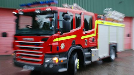 Two crews were called to the river in Ludham