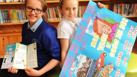 Angel Road Junior School children who received a special mention for their road safety posters in th