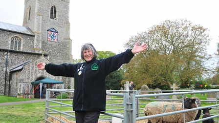 Ludham 9th annual Arts and Crafts festival.Event organiser Christine Wall.