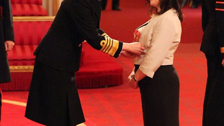 Dame Rachel de Souza is made a Dame of the British Empire by the Princess Royal at an Investiture ce