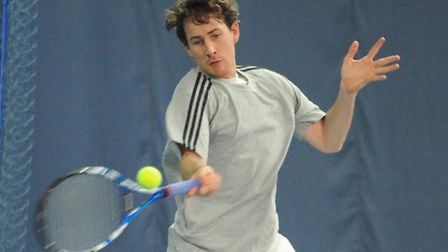 Richard Bloomfield taking part in the Aegon British Tour tournament at Easton College. Picture: Deni