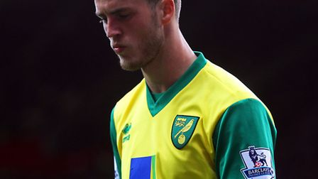 Ricky van Wolfswinkel during the 4-0 defeat at Manchester United. Picture: Paul Chesterton / Focus I