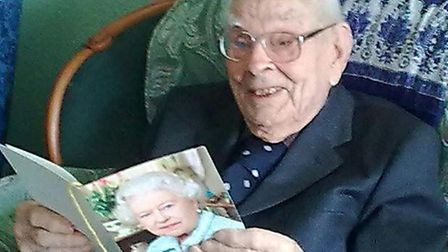 Jack Boast with letter from Queen on his 100th birthday.