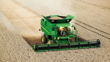 John Deere S690i which is now being built in Germany.