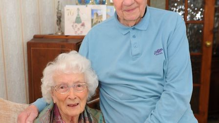 Kay and Chris Christmas, who celebrate 70 years of marriage today