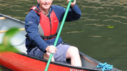 Russell Wilson from the Broads Authority who has worked on new canoe trail guides around parts of th