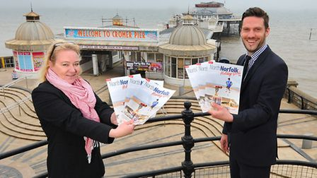 Archant advertising account managers Juliet Joerger and Nick Harding with the new North Norfol Holid