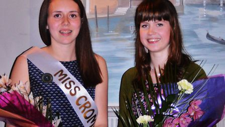Miss Cromer 2014 Hayley Massingham, 18, (left) with senior attendant with Erin Holroyd, 17. Picture: