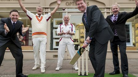 Pictured at the sponsorship launch are, from left to right: James Conway, Alliance chairman Peter T