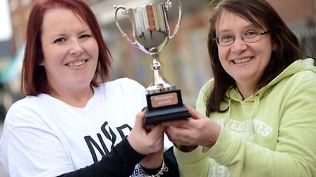 Two of the team captains for the Shopkeeper Olympics in Fakenham, Claire Brown (left) and Lisa Malle