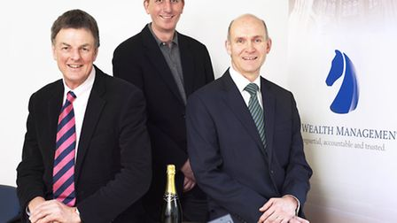 Photo L-R: Neil Shillito director; Andy Wood chairman; Stephen Girling director.