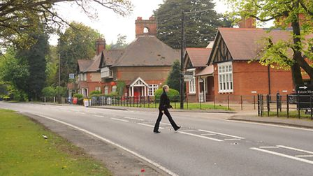 The old A11 through Elveden, now empty of traffic after the opening of the new bypass. Picture: Deni