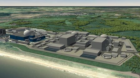 CGI of proposed Sizewell C power station