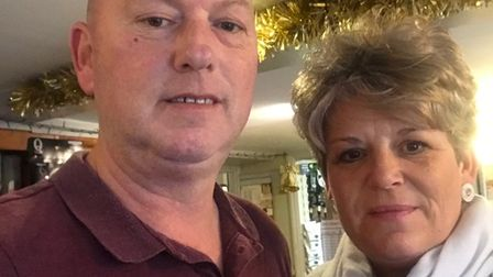 Norfolk couple smiling for a selfie