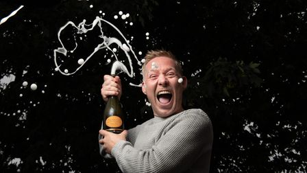 Ipswich magician and entertainer Robbie James celebrating his success Picture: SARAH LUCY BROWN
