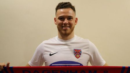 Ipswich Town have been linked with a move for non-league striker Ben House. Picture: DAGENHAM&REDBRIDGE