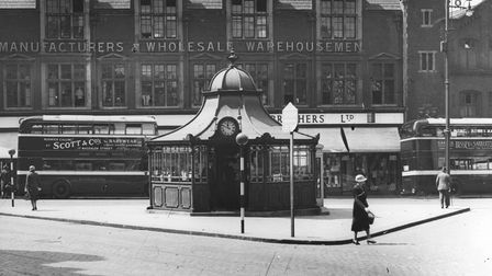 Orford Place in Norwich, 1937, with Curls in the background
