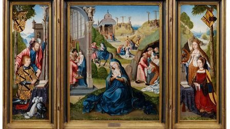 Painting of the seven sorrows of the Virgin Mary