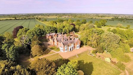 Picture of manor house taken from sky