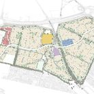 Plans showing a proposed new development in Taverham called Marriott's Park