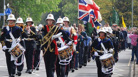 Scouts St George's Day parade in North Walsham.PHOTO: ANTONY KELLY