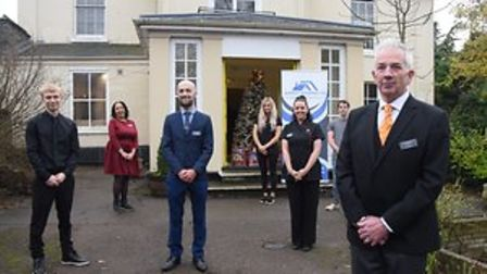 Stuart Turner, general manager of the Aspect Housing Hotel on Earlham Road together with staff at the hotel.