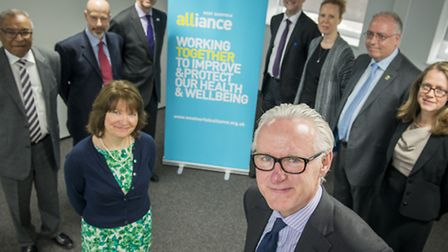 At the College of West Anglia, Minister for Care and Support Norman Lamb MP joined representatives f