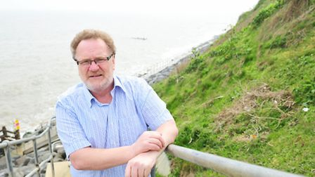 Stephen Pavey,chairman on Corton parish council, is worried that the beach at Corton will be eroded
