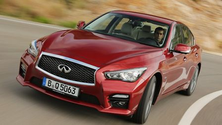The sharpely-styled Infiniti Q50 compact sports saloon spearheads the premium Japanese marque's driv