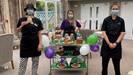 Staff from Ness Court: chef manager Stephanie Johnston, wellbeing and inclusion assistant Christina Shillingford and...