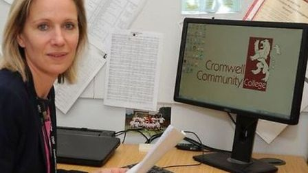 Someone at Cromwell Community College in Chatteris has tested positive for Covid-19, headteacher Jane Horn (pictured) has...